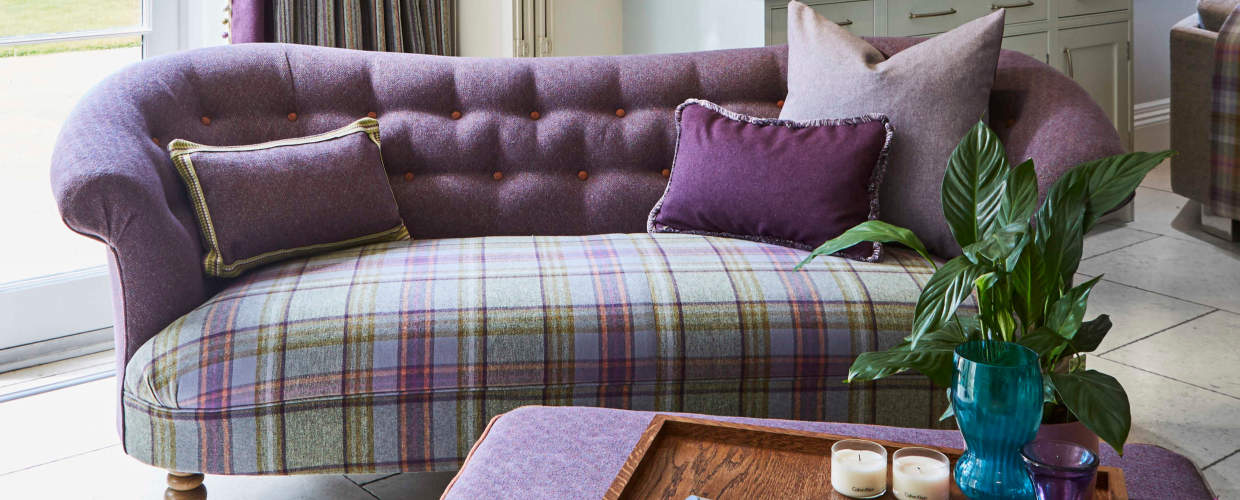 Traditional Design Sofa In Timeless Tartan Tweeds And Twills With A Contemporary Edge